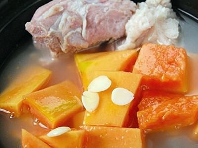 木瓜花生排骨湯